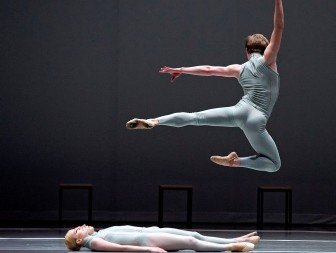 Isaac Akiba in William Forsythe's The Second Detail. Photo Gene Schiavone