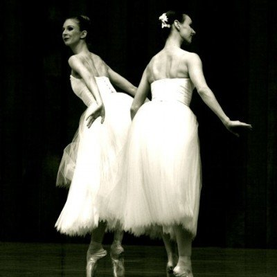 "Kristina Lind and Jennifer Stahl in ""Suite En Blanc"""