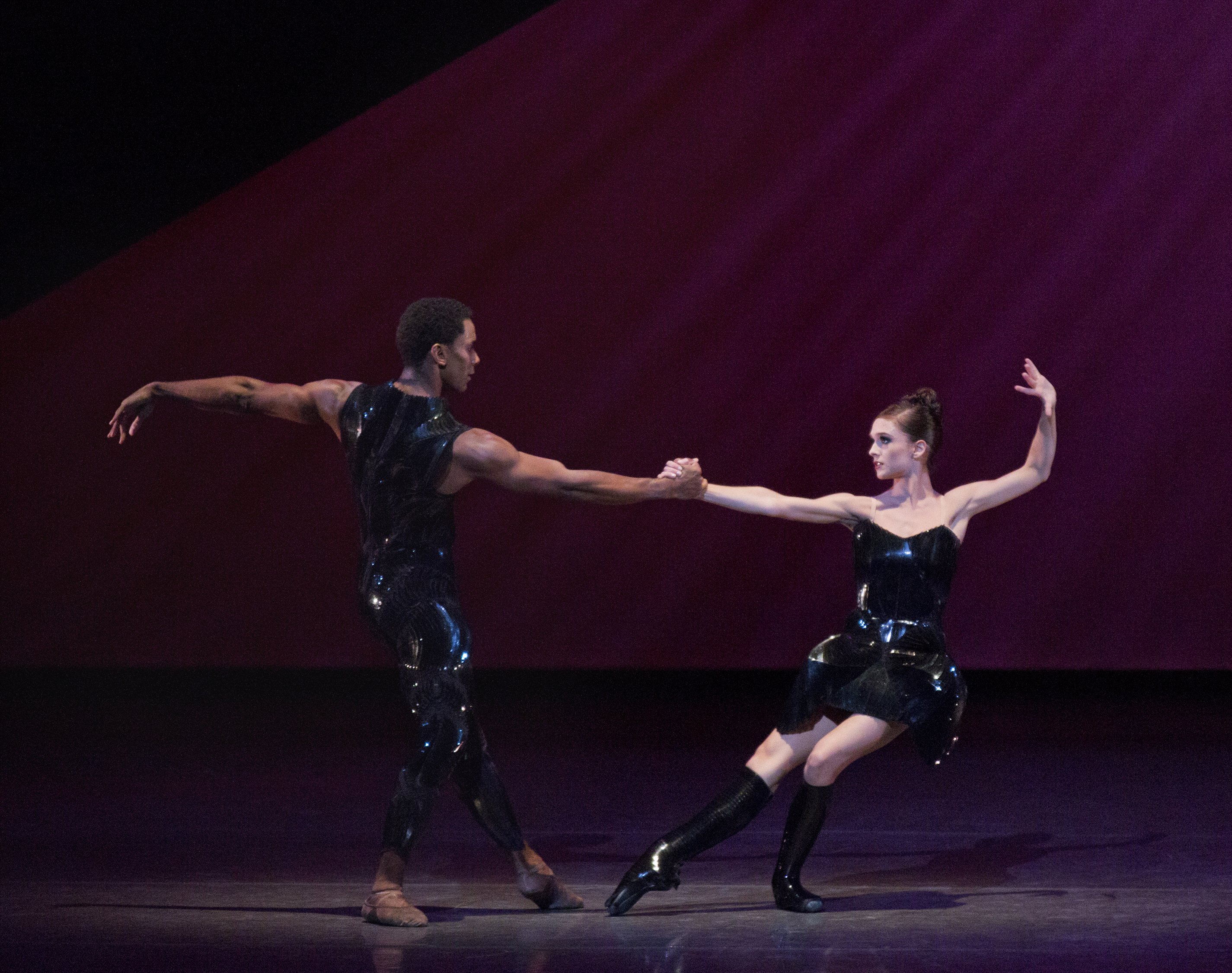 "Lauren Lovette and Craig Hall in a prior performance of Benjamin Millepied's ""Neverwhere"" Photo by Paul Kolnik"