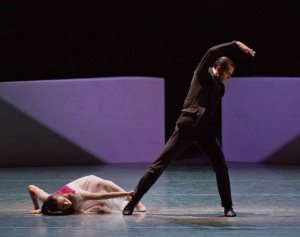 "Tiler Peck, here with Robert Fairchild, in Angelin Preljocaj's ""Spectral Evidence"" Photo © Paul Kolnik"