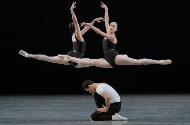 New York City Ballet's Robert Fairchild, Megan Mann and Georgina Pazcoguin in 'The Four Temperaments' Photo © Paul Kolnik