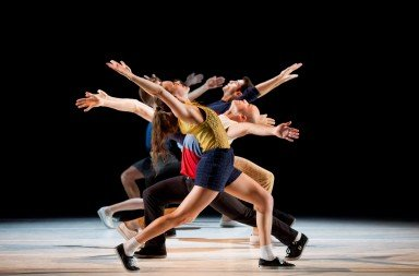 LA Dance Project in Justin peck's 'Murder Ballads' with Julia Eichten at the front. Photo © Laurent Philippe