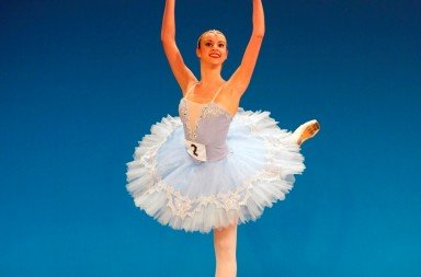 Silver medallist Isabelle Brouwers in her classical variation, 'La Bayadère' Act III, 2nd Girl. Photo © Andrew Ross