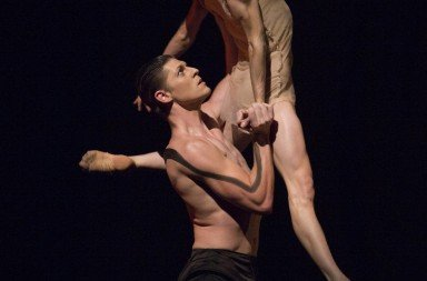 "Rachel Foster and Joshua Grant in ""Emergence"" Photo © Angela Sterling"