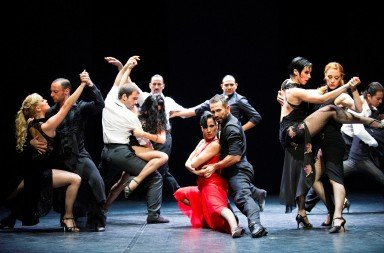 Sidi Larbi Cherkaoui's 'Milonga'.  Photo © Tristram Kenton