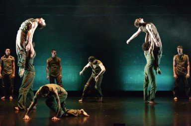 BalletBoyz: The Talent 2013 in Russell Maliphant's 'Fallen'.  Photo © Panos