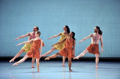 Mark Morris Dance Group in Socrates. Photo © Gene Schiavone