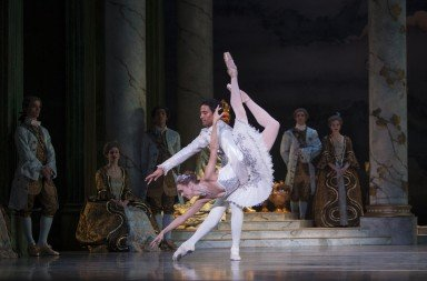 "Leslie Rausch and Karel Cruz in ""The Sleeping Beauty"" Photo © Angela Sterling"