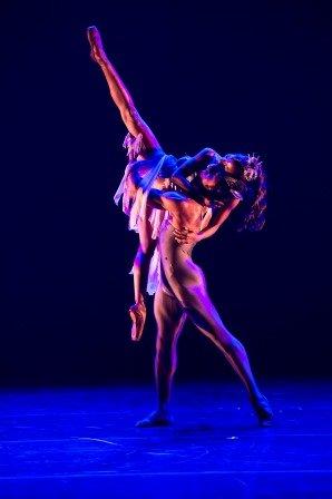 Cira Robinson and José Alves as Titania and Bottom in Arthur Pita's 'A Dream within a Midsummer Night's Dream'.  Photo © Bill Cooper