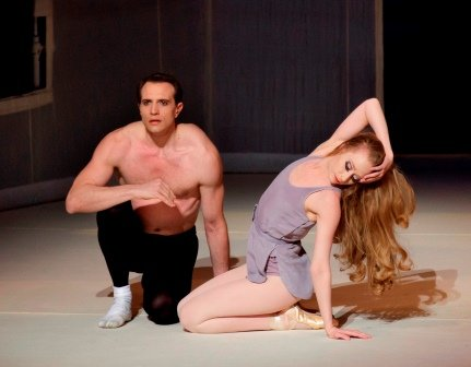 Janie Taylor and Sebastien Marcovici performing in Jerome Robbins' 'Afternoon of a Faun'.  Photo © Paul Kolnik