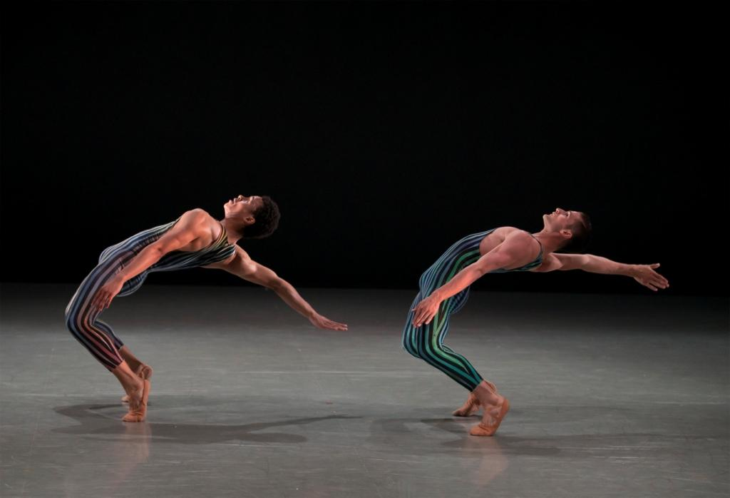 Northern Ballet dancers Isaac Lee Baker and Nicola Gervasi in Concertante. Photo © Emma Kauldhar