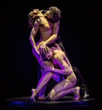 Eifman Ballet in 'Rodin' with Lyubov Andreyeva as Camille and Oleg Gayshev as Rodin.  Photo © Souheil Michael Khoury