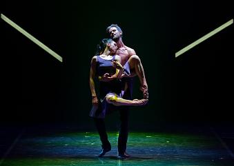 Lyubov Andreyeva as Camille and Oleg Gayshev as Rodin.  Photo © Souheil Michael Khoury
