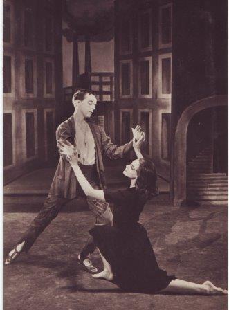 Robert Helpmann and Pauline Clayden in the original 1944 Sadler's Wells Ballet production of 'Miracle in the Gorbals'.  Photo Edward Mandinian