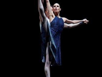 Igone de Jongh and Artur Shesterikov in Hans van Manen's 'Dances with Harp'. Photo © Angela Sterling