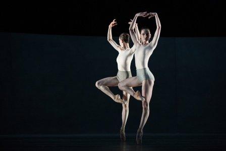 Kairos (03). Viktorina Kapitonova and Galina Mihaylova in Wayne McGregor's 'Kairos'.  Photo Judith Schlosser