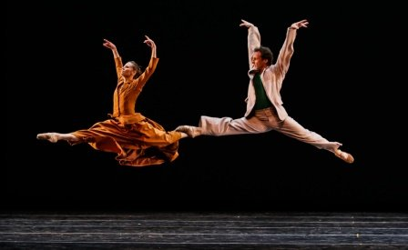 Manuel Legris with Laetitia Pujol in John Neumeier's 'Sylvia' at the 2014 Dance Salad Festival, Houston, TX. Photo © Amitava Sarkar/ PhotographyInsight