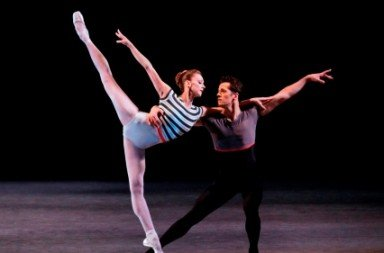 Maria Kowroski and Robert Fairchild in 'Everywhere We Go'.  Photo © Paul Kolnik