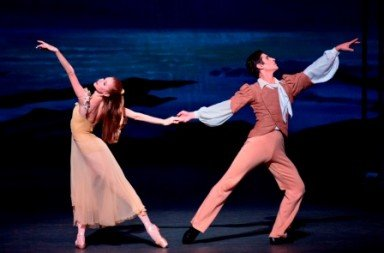 Ashley Laracey and Sean Suozzi in Robert Schumann's 'Davidsbundertanze''.  Photo © Paul Kolnik