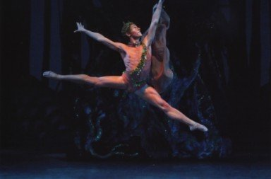 Troy Schumacher as Puck in 'A Midsummer Night's Dream'. Photo © Paul Kolnik