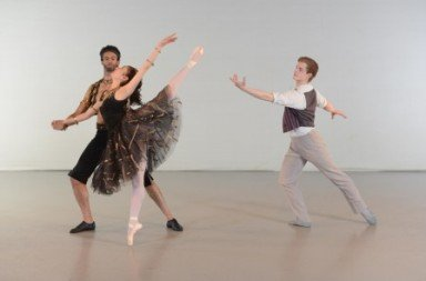 Mami Hagihara, Curtis Pooley and Paul Oliver (right) in a studio shot of 'The Two Pigeons'. Photo © Richard Battye