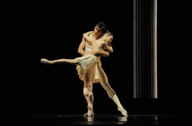 Maria Kochetkova and Davit Karapetyan in Tomasson's 'Caprice'. Photo © Erik Tomasson