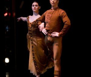 Sofiane Sylve and Tiit Helimets in Robbins' In The Night.  Photo © Erik Tomasson
