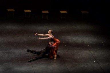 Alina Bakalova and Anton Labunskass in 'Rodin'.  Photo © Anatoly Budnik