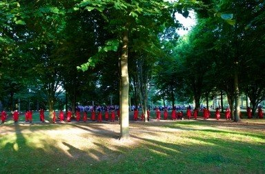 Rosemary Lee's 'Under the Vaulted Sky' at the Cathedral of Trees, Milton Keynes.  Photo © Shaun Armstrong