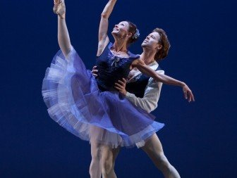 Anna Tsygankova and Matthew Golding in José Martinez's 'Delibes Suite'.  Photo © Angela Sterling