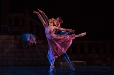 Chloe Sherman as Juliet and Alex Castillo as Romeo in Francis Patrelle's 'Romeo and Juliet'.  Photo © Rosalie O'Connor