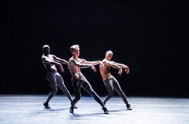 Benjamin Maestas lll, Keon Price, Sylvain Boulet in Rainbow Fletcher's 'Sportif'.  Photo © Colleen Dishy