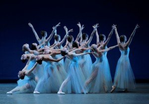 "New York City Ballet in George Balanchine's ""Serenade"" Photo by Paul Kolnik"