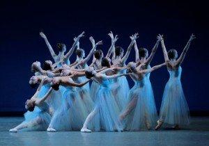 "New York City Ballet in George Balanchine's ""Serenade"" Photo by Paul Kolnik"