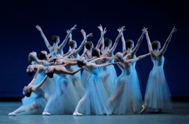 New York City Ballet in 'Serenade'.  Photo © Paul Kolnik