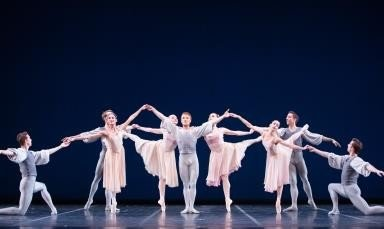 Pennsylvania Ballet in George Balanchine's 'Allegro Brillante'.  Photo © Alexander Iziliaev