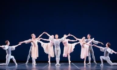 Pennsylvania Ballet in George Balanchine's 'Allegro Brillante'.  Photo © Alexander Iziliaev