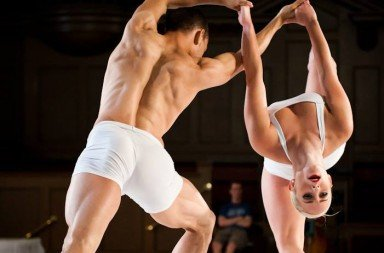 Ty Alexander Cheng and Shadou Mintrone in Spectrum Dance Theatre's 'LOVE'.  Photo © Nate Watters