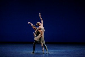 "Christopher Wheeldon's ""This Bitter Earth,"" here in a prior performance with Wendy Whelan and Tyler Angle Photo by Paul Kolnik"