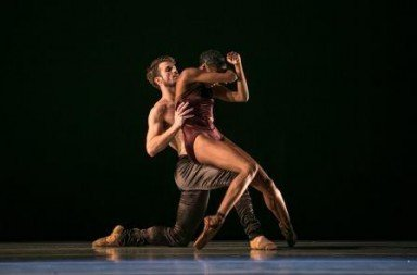 LINES Ballet dancers Robb Beresford (left) and Courtney Henry in 'Shostakovich'.  Photo © Quinn B. Wharton