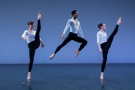 Amanda Treiber, Choong Hoon Lee, and Alexis Branagan in 'Cross Currents'.  Photo © Rachel Neville