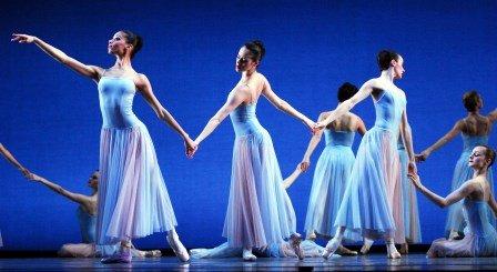 Celine Gittens, Samara Downs, Arancha Baselga and Laura Jane Gibson in George Balanchine's 'Serenade'.  Photo © Roy Smiljanic