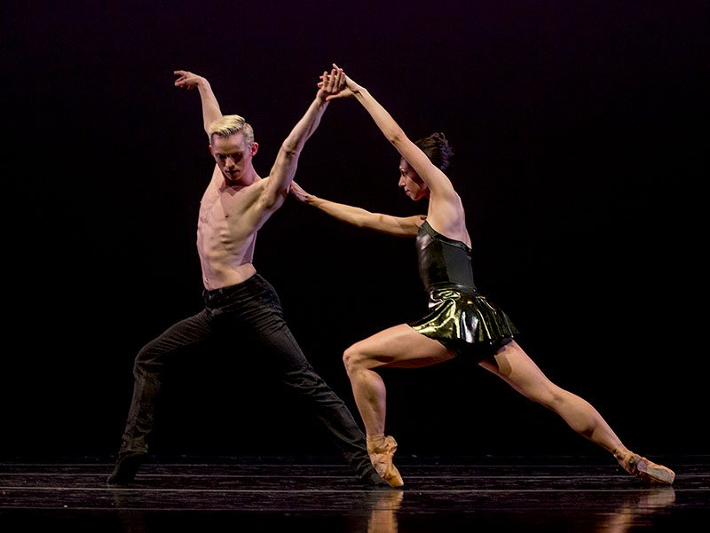 Amanda Farris and Christian Squires in Robert Dekkers' See Saw.  Photo © Bilha Sperling