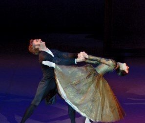 Jonathan Davidsson as Onegin and Luana Georg as Tatyana in John Cranko's Onegin.  Photo © Harri Rospu