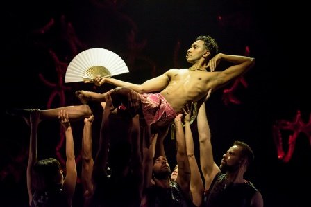 Sooraj Subramaniam and company in Bayadère – The Ninth Life.  Photo ROH.