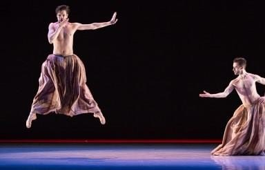 Jurrien Schobben and Mathieu Di Scala in Trompe L'Oeil.  Photo Amitava Sarkar