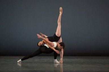 Lia Cirio and Paulo Arrais in George Balanchine's Episodes.  Photo © Rosalie O'Connor