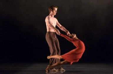 Lina Kim and Shane Wuerthner in Short Dialogues.  Photo Amitava Sarkar
