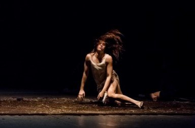 Scottish Dance Theatre's Aya Steigman in Fleur Darkin's Miann. Photo Brian Hartley