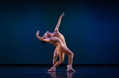 Amanda Farris and Christian Squires in Trey McIntyre's Just.  Photo Bérenger Zyla